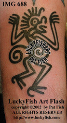 Aztec Monkey Tattoo Design 1
