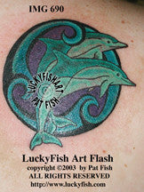 Double Dolphins Celtic Tattoo Design 1
