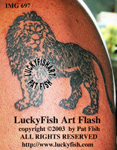 Proud Lion Tattoo Design 1