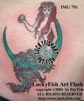 Mermaid of Law Tattoo Design 1