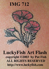 Dainty Poppy Tattoo Design 1