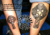Shannon River Cross Celtic Tattoo Design 2