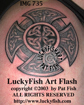 Fireman's Cross Celtic Tattoo Design 1