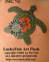 Aloha Turtle Hawaiian Tattoo Design 1