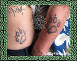 Wolf Paw Tattoo Design 3
