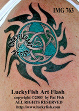 Dancing at Lughnasa Tribal Celtic Tattoo Design
