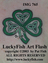St. Brigit's Shamrock Celtic Tattoo Design 1