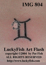 Gemini Glyph Astrology Tattoo Design 1