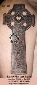 Slane Abbey Cross Celtic Tattoo Design 1