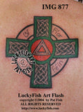 Recovery Cross Celtic Addiction Tattoo Design
