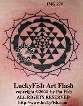 Sri Yantra Hindu Tattoo Design 1