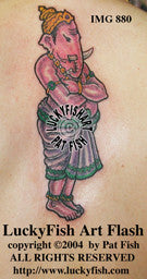 Ganesha Indian Tattoo Design 1