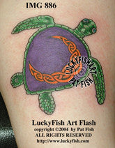 Moon Turtle Celtic Tattoo Design 1