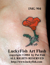 Happy Poppy California Tattoo Design 1