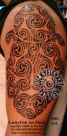 Spiral King Celtic Tattoo Design 1
