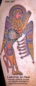 Book of Kells Lion Celtic Tattoo Design 1