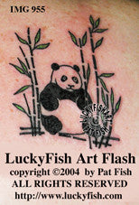 Pretty Panda Chinese Tattoo Design 1