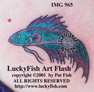 Betta splendens Fish Tattoo Design 1