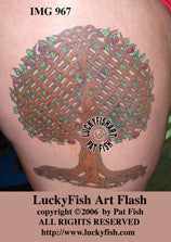Lattice Tree of Life Celtic Tattoo Design 1