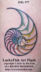 Dotilus Nautilus Tattoo Design 1