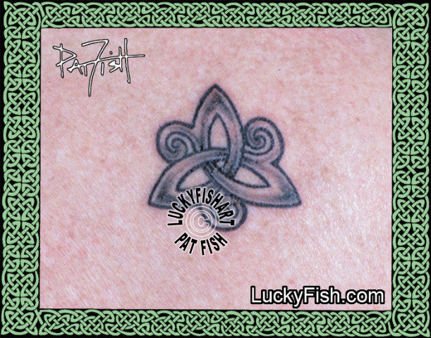 Survivor Symbol Celtic Knot Tattoo Design
