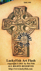 Wolfhound Cross Celtic Tattoo Design 1
