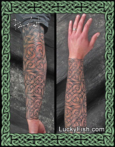 Celtic Forearm Sleeve Tattoos Luckyfish Art