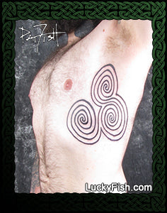Newgrange Triple Spiral Celtic Tattoo Design
