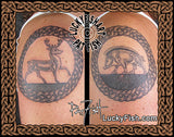 Stag Boar Ring Pictish Celtic Tattoo Design