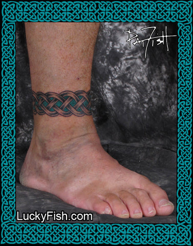 70cafb79d Wedding Band Pair Celtic Anklet Tattoo Design; Wedding Band Celtic Anklet  Tattoo Design ...