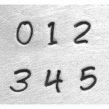 Bridgette 3mm Basic Numbers Metal Stamp Set