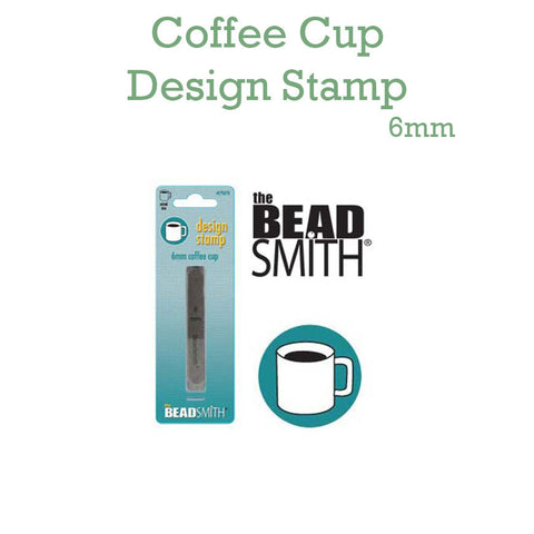 Coffee Cup Metal Design Stamp 6mm
