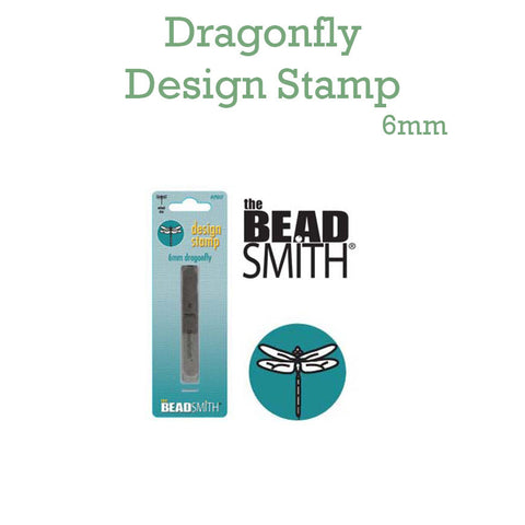 Dragonfly Metal Design Stamp 6mm