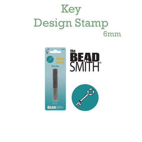 Key Metal Design Stamp 6mm