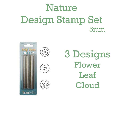 Nature Metal Design Stamp Set 5mm - Set of 3