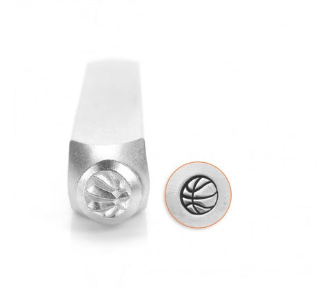 Basketball Metal Design Stamp 6mm