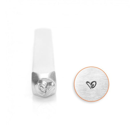 Boogie Heart Metal Design Stamp 3mm