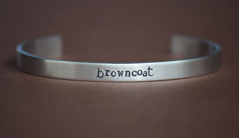 Browncoat - Serenity Inspired Aluminum Bracelet Cuff