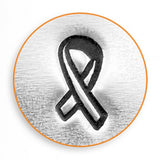 Breast Cancer Ribbon Outline Metal Design Stamp 6mm