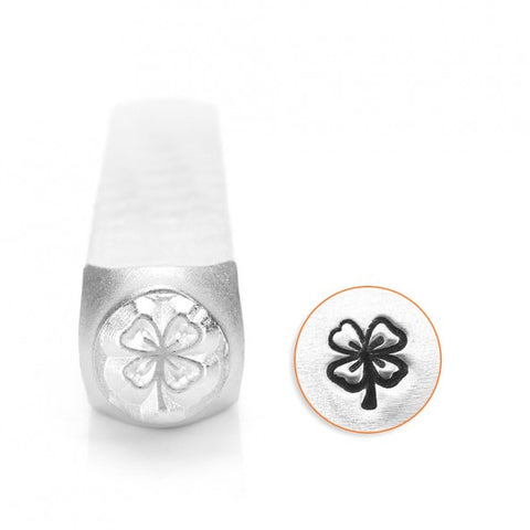 Four Leaf Clover Metal Design Stamp 6mm