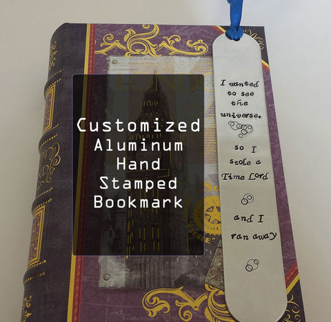 Custom Hand Stamped Aluminum Bookmark
