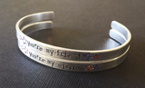 You're my Friend/Mission - Captain America Inspired Cuff Set