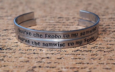 Frodo and Samwise - Tolkien Inspired Cuff Set
