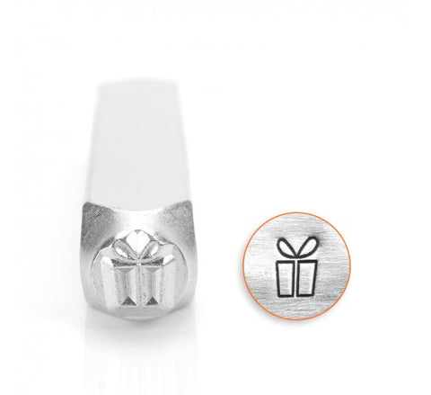 Present Gift Box Metal Design Stamp 6mm