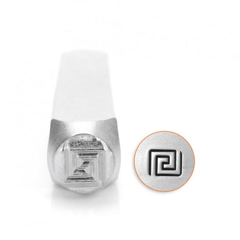 Greek Key Metal Design Stamp 6mm