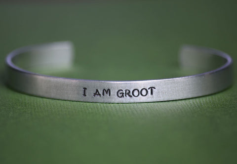 I am Groot - Guardians of the Galaxy Inspired Aluminum Bracelet Cuff