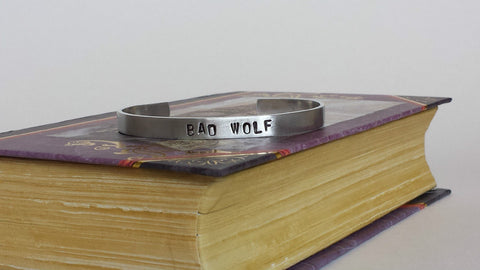 BAD WOLF - Doctor Who Inspired Aluminum Bracelet Cuff