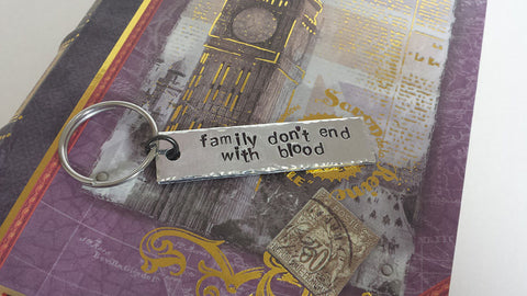 Family Don't End with Blood - Supernatural Inspired Aluminum Keychain