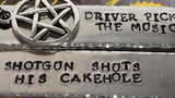 Driver Picks the Music, Shotgun Shuts His Cakehole - Supernatural Inspired Aluminum Keychain