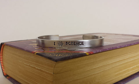 I Love Science - Aluminum Bracelet Cuff